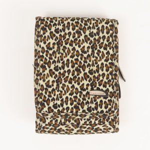 Travelon Jaguar Brown Pattern Small Wallet Pockets